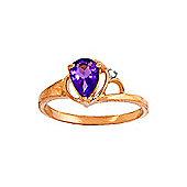 QP Jewellers Diamond & Amethyst Glow Ring in 14K Rose Gold
