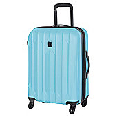 IT Luggage Ultra Strong 4-Wheel Hard Shell Suitcase, Blue Medium