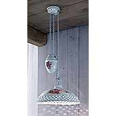 Ferroluce Verona 32 cm 1 Light Train Pendant in White-Gold
