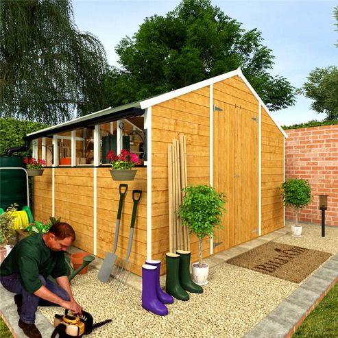 Guide how to build billyoh 4000 shed haddi for Garden shed tesco