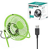 "Twitfish Metal USB Desk Fan 4"" - Green"