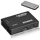 Duronic HRS1031 3 Port HDMI Auto Switch Box plus Remote