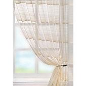 Strata Voile Curtain Panel - Cream