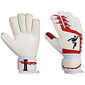 Precision Football Classic Red Rollfinger Finger Protection Gk Gloves - White
