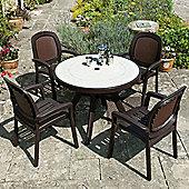 Nardi Toscana 100cm Ravenna Table with Beta Chairs in Coffee
