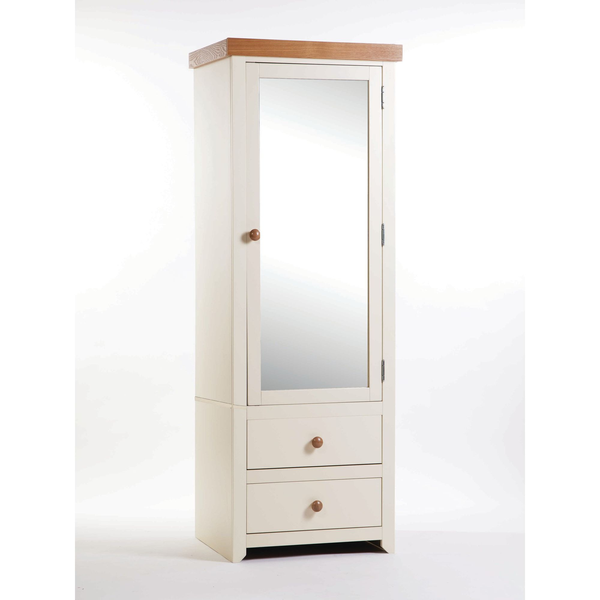 Home Essence Jamestown 1 Mirrored Door with 2 Drawer Wardrobe at Tesco Direct