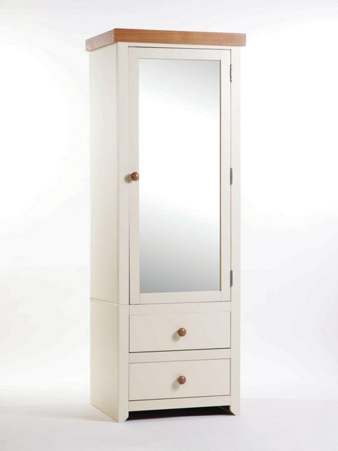 Home Essence Jamestown 1 Mirrored Door with 2 Drawer Wardrobe