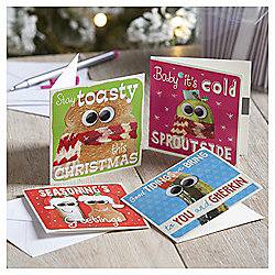 Humour Food Christmas Cards, 20 pack