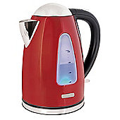 Lloytron E1506RD 1.7 litre 3kw 360 Rapid Boil Cordless Kettle - Red Steel