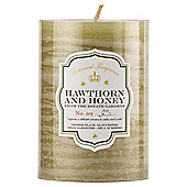 Botanicals Rustic Pillar Candle Medium Hawthorn & Honey