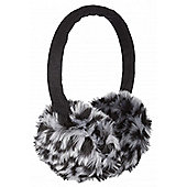 Leopard Print Black and White Earmuffs