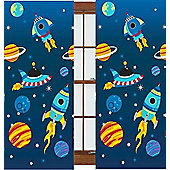 Rocket, Boys Bedroom Curtain 54s - Multi