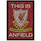 Liverpool FC Photomosaic Black Wooden Framed This Is Anfield LFC Poster