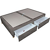 Sweet Dreams Amber Double Spring Edge, 4 Drawer Divan - Sumatra Plain Grey
