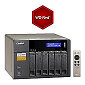 QNAP TS-653A-4G/24TB-RED 6-Bay 24TB(6x4TB WD RED) Network Attached Storage Solution with 4GB RAM Supports the Linux OS with direct output via HDMI