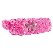 Tesco Plush Pencil Case With Butterfly Applique
