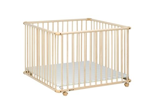 Geuther Geuther Belami Large Strips Playpen in Natural