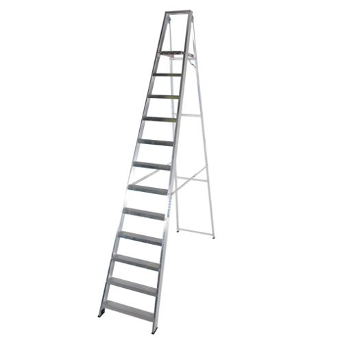 TB Davies Industrial Aluminium 12 Tread Platform Step Ladder