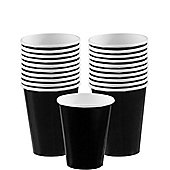 Black Cups - 266ml Paper Party Cups
