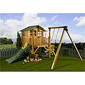 5ft x 7ft Tower 5 x 7 Playhouse, Slide and Swing 5x7