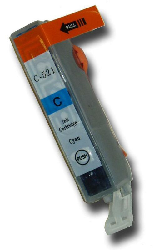1 Chipped Compatible Canon CLI-521C Cyan/Blue Ink Cartridge