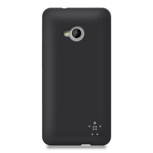 Belkin TPU Grip Sheer Case for New HTC ONE in Matte Black