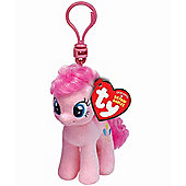 "TY Beanie 4"" Key Clip My Little Pony Pinkie Pie"