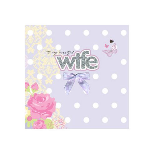 Wedding Gift List Tesco : Buy Sparkle and Bow Wife Card from our All Wedding Gifts rangeTesco