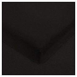 Single Fitted Sheet 100% Cotton - Black