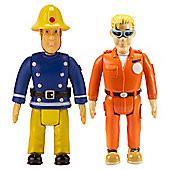 Fireman Sam 2 Figure Pack - Sam and Tom with Glasses