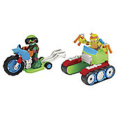 Teenage Mutant Ninja Turtles Half-Shell Heroes Vehicle And Figure - Motorcycle Tank With Raph