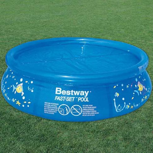 Buy bestway solar pool cover 12 39 from our pool for Garden pool tesco