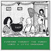 Holy Mackerel Greeting Card - Christmas Card - Underdone Turkey Xmas Lunch