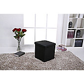Leader Lifestyle Spacey Leather Ottoman with Storage - 40 cm W x 40 cm D