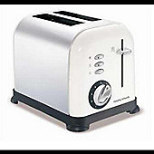 "Morphy Richards ""44325\"" White Accents 2 Slice Toaster"