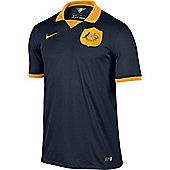 2014-15 Australia Away World Cup Football Shirt - Navy