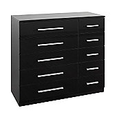 Urbane Designs HE007 Ohio 10 Drawer Chest - Black High Gloss