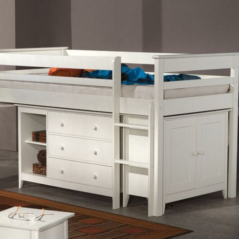 Buy cotswold cabin bed white from our mid high sleepers range Tesco home bedroom furniture