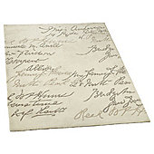 iLiv Shabby Elegance Ivory Contemporary Rug - 120 cm x 170 cm (3 ft 11 in x 5 ft 7 in)