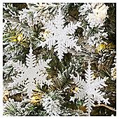 White Snowflake Christmas Tree Decorations, 3 pack