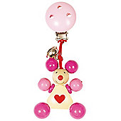 Heimess 762910 Wooden Clip On (Pink Mouse)