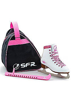 SFR Junior Ice Skate Pack - White