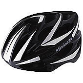 HardnutZ Black Cycle 3M Reflective Adult Bike Helmet, 54- 61cm