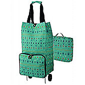 Ulster Weavers Collapsable Space Saving Shopping Trolley Bag in Graphic Lace Design