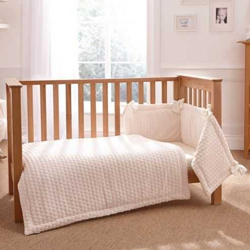 Clair de Lune 3pc Cot Bed Bedding Set (Marshmallow Cream)