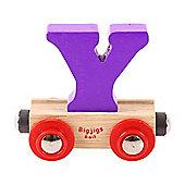 Bigjigs Rail Rail Name Letter Y (Purple)