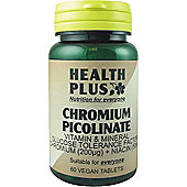 Health Plus Chromium Picolinate Vegan 60 Veg Tablets