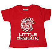 Dirty Fingers Little Dragon Kung Fu Baby T-shirt - Red