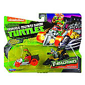 TNMT T-Machines 2 Pack - Mikey In Hot Rod & Shredder In Shreddermobile
