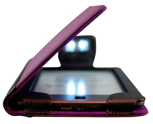 Amazon Kindle Touch Neo-ORBIT Leather Cover W/ LED Light for Kindle Touch - Purple